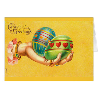Vintage Easter Greetings with Eggs Card