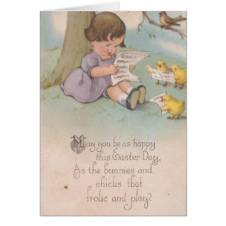 Vintage Easter Happy as Chicks Card