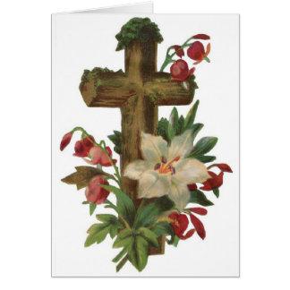 Vintage Easter - His Resurrection Card