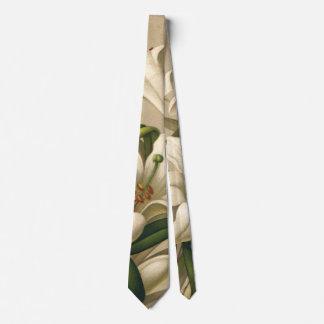 Vintage Easter Lilies, Victorian Flowers in Bloom Tie