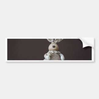 Vintage Easter Rabbit Bumper Sticker