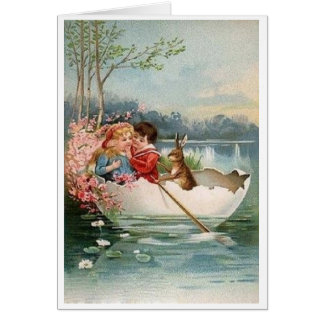 Vintage Easter Romance! Victorian Easter Card