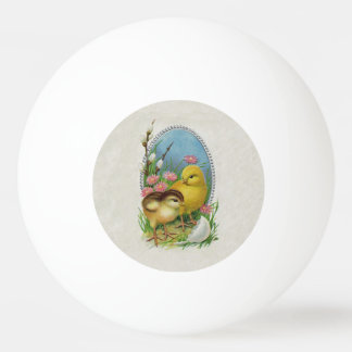 Vintage Easter Spring Baby Chicks Flowers Ping-Pong Ball