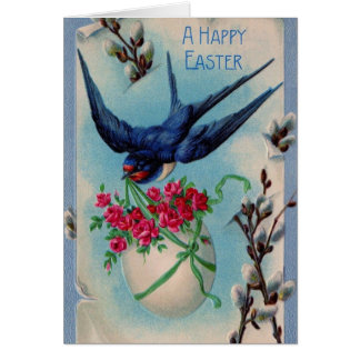 Vintage Easter Swallow Card