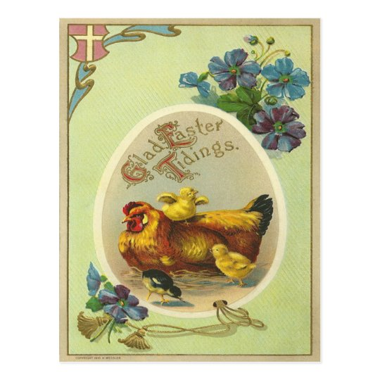 Vintage Easter Tidings Postcard