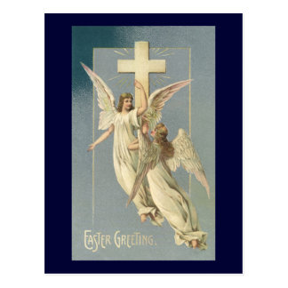 Vintage Easter, Victorian Angels with a Cross Postcards