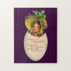 Vintage Easter, Victorian Child in an Egg Jigsaw Puzzle