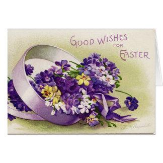 Vintage Easter Violets Card