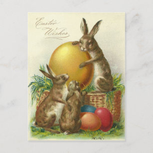 Vintage easter gifts on zazzle ca vintage easter wishes 1906 christmas postcard negle Images