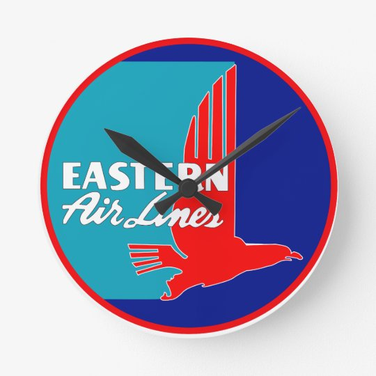 Vintage Eastern Airlines Wall Clock