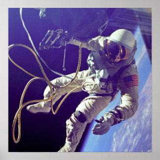 Vintage Ed White First American Spacewalk Poster