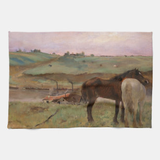 Vintage Edgar Degas Horses in a Meadow Kitchen Towel