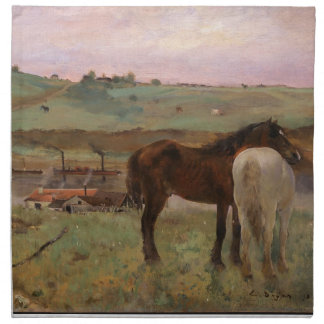 Vintage Edgar Degas Horses in a Meadow Napkin