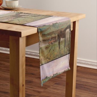 Vintage Edgar Degas Horses in a Meadow Short Table Runner