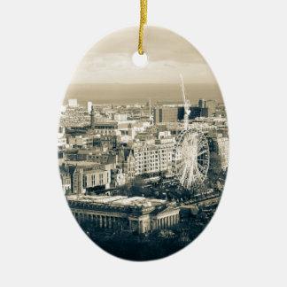 Vintage Edinburgh Ceramic Oval Ornament