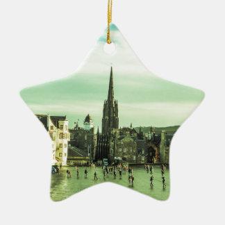 Vintage Edinburgh Ceramic Star Ornament
