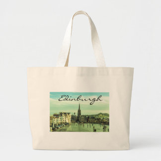 Vintage Edinburgh Large Tote Bag