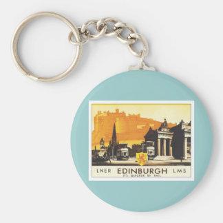 Vintage Edinburgh LNER Basic Round Button Keychain