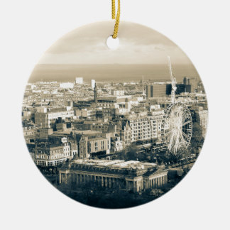 Vintage Edinburgh Round Ceramic Ornament