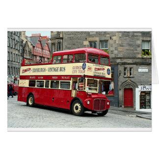 Vintage Edinburgh Tour Bus, Scotland, UK Card