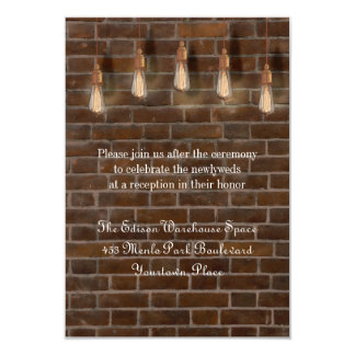 Vintage Edison Lightbulbs Industrial Reception Card