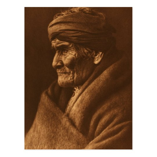 Vintage Edward S Curtis Geronimo Photograph Postcard