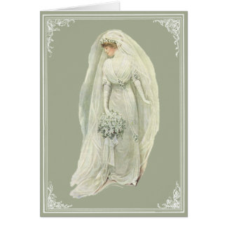 Vintage Edwardian Bride Greeting Card