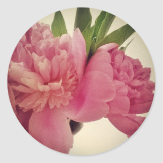 Vintage Effect Peonies Sticker