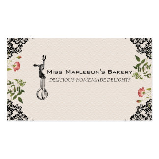 Vintage egg beater bakery baking gift tag biz card business card