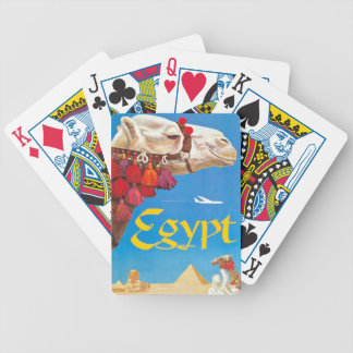 Vintage Egypt Air Travel Advertisement Bicycle Playing Cards