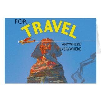 Vintage Egypt Air Travel Advertisement Card
