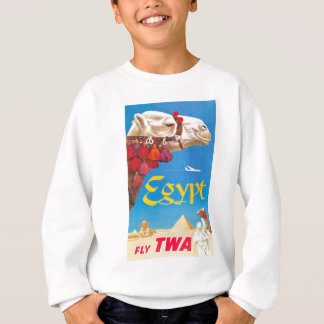 Vintage Egypt Air Travel Advertisement Sweatshirt