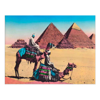 Vintage  Egypt, Great Pyramid at Giza Postcard