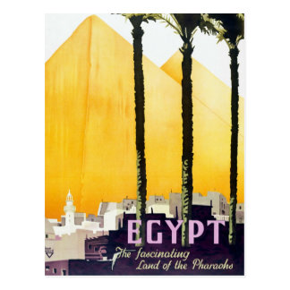 Vintage Egypt Pyramids Travel Postcard