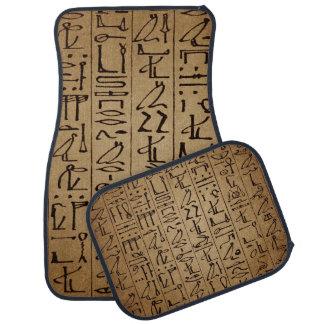 Vintage Egyptian Hieroglyphics Paper Print Floor Mat
