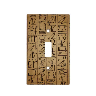 Vintage Egyptian Hieroglyphics Paper Print Light Switch Cover