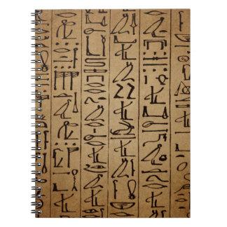 Vintage Egyptian Hieroglyphics Paper Print Spiral Notebook