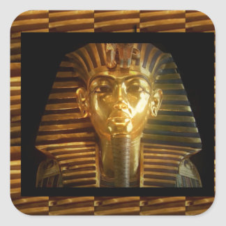 VINTAGE Egyptian Idols Art : PYRAMIDS of ANCIENT Square Sticker
