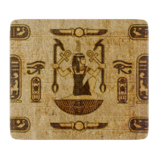 Vintage Egyptian Ornament  Old Papyrus paper Cutting Board
