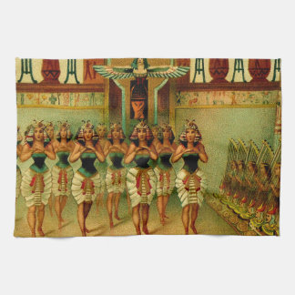 Vintage Egyptian Painting Kitchen Towel