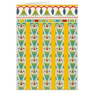 Vintage Egyptian Patterns Card