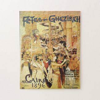Vintage Egyptian Themed railway jigsaw puzzle