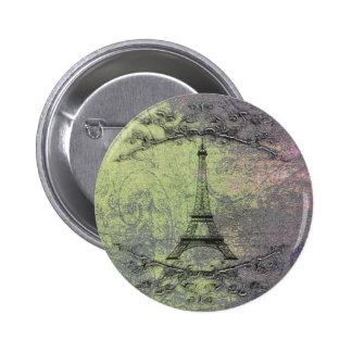 Vintage Eiffel Tower 2 Inch Round Button