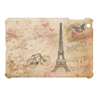 Vintage Eiffel Tower Art Cover For The iPad Mini