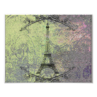 Vintage Eiffel Tower Art Photo