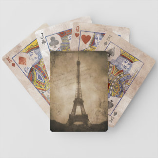vintage eiffel tower bicycle playing cards