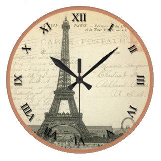 Vintage Eiffel Tower Clock