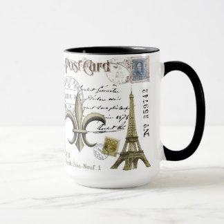 Vintage Eiffel Tower coffee mug