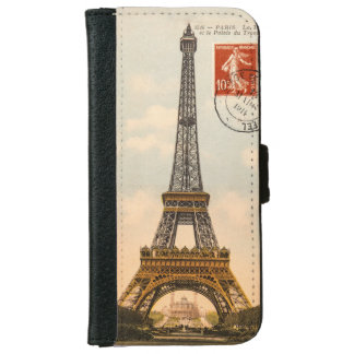 Vintage Eiffel Tower iPhone 6 Case iPhone 6 Wallet Case