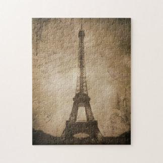 vintage eiffel tower jigsaw puzzle